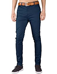 ITALY MORN Homme Casual Chino Business Pantalons Slim Fit