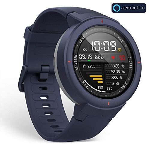xiaomi AMAZFIT Verge SMARTWATCH mit integriertem Alexa, Blau 1,3 '' AMOLED WiFi GPS Bluetooth 5 TAGE AUTONOMIE 4 GB / 512 MB, Unisex Erwachsene