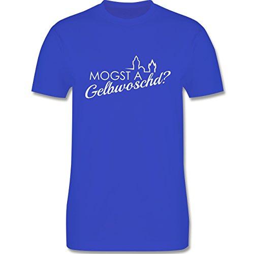 Städte - Mogsd a Gelbwoschd - Franken Hommage - Herren Premium T-Shirt  Royalblau