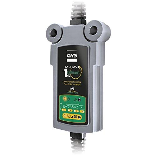 Gys GYS-029675-GYSFLASH GYSFLASH 1.12-Chargeur/Maintien DE CHARGE-INVERTER-230V-LIVRE avec Pinces ET COSSES DE Connexion, Lithium 1A