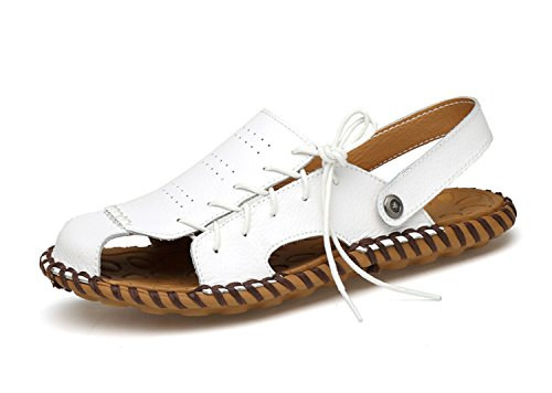Miyoopark , Sandales Compensées homme Style1-White