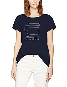 G-STAR RAW Genzia Straight R T Wmn S/S, Camiseta para Mujer