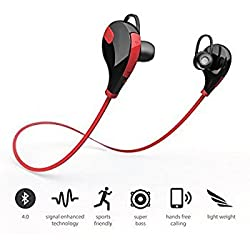 SCORIA Wireless QY7 Bluetooth Jogger Headset (Red)