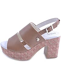 Cayuan Donna Estivi Sandali Piatto Peep Toe Scarpa con Finta Pelle Cinturino Regolabile Spiaggia Scarpe Femminile Bianca