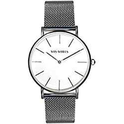 Vis Vires Sterling Silver Timepiece 40mm