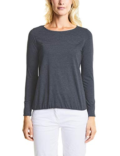 Cecil Damen Sweatshirt 312612 Malena, Blau (deep Blue 20128), X-Small (Herstellergröße: XS)