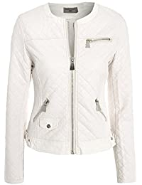 Women's Cross Stitch Zip Biker Jacket 8 - 16
