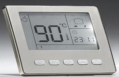 SM-PC®, Raumthermostat Thermostat programmierbar Digital silber farbiger Rahmen #841 von sm-pc bei Lampenhans.de
