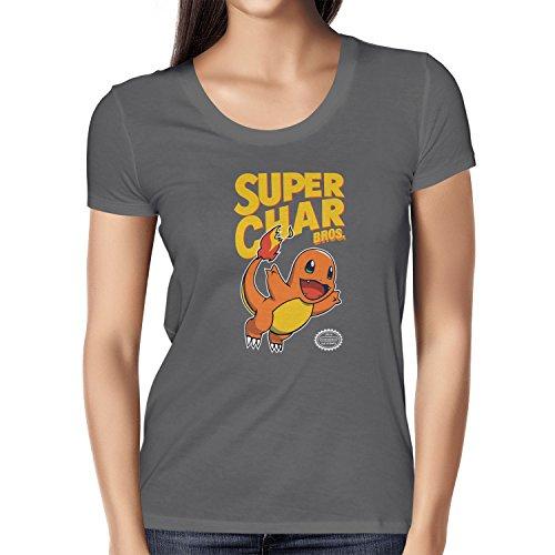 NERDO - Super Char Bros. - Damen T-Shirt Grau