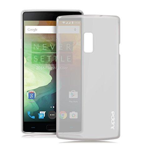 Juppa® OnePlus Two / OnePlus 2 5,5 Zoll Smartphone TPU Silikon Tasche Hülle Schutzhülle mit LCD displayschutzfolie und Mikro-Reinigungstuch - Klar / Clear