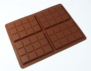 form aus silikon f r schokolade 4 mittelgro e schokoladentafeln 70g k che haushalt. Black Bedroom Furniture Sets. Home Design Ideas