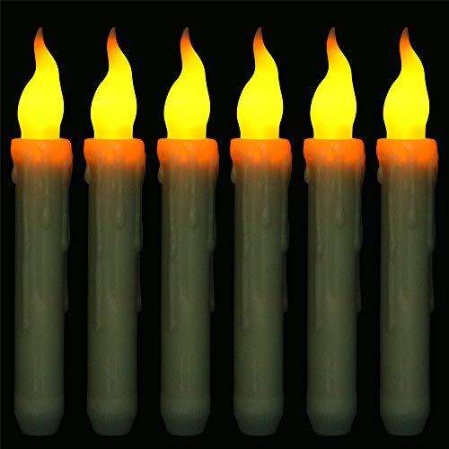GTQC 6 Pack Flammenlose Kerze Batteriebetriebene Kerzen Echte Wachstumssäule LED Kerze 2.0cm*17cm