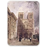 The Cathedral of Notre Dame, Paris, 1836 by.. - Mouse Mat Art247 Highest Quality Natural Rubber Mouse Mats - Mouse Mat