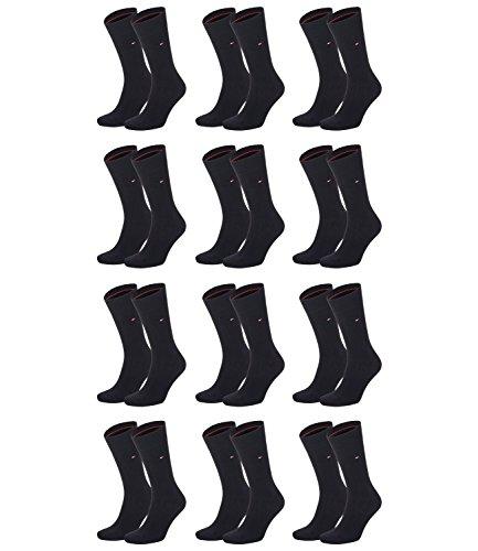 Preisvergleich Produktbild TOMMY HILFIGER Herren Classic Casual Business Socken 12er Pack (Black, 47-49)