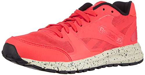 Reebok Ul 6000, Chaussures de course femmes Rouge (Neon Cherry/Paperwhite/Black/Silvery Green)
