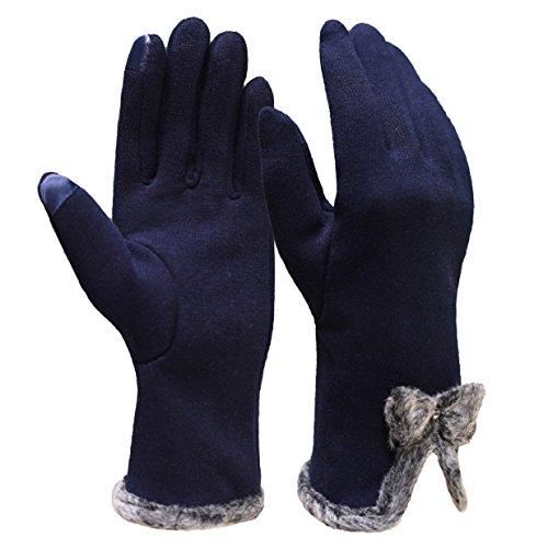 Heekpek guanti donna invernali caldi guanti da donna touchscreen taglia unica guanti da donna touchscreen invernale