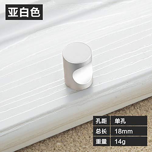 Aluminiumlegierung Schranktürgriff modernen minimalistischen Schubladengriff solide Verdickung Schrankgriff 2034 Einloch - matt weiß -
