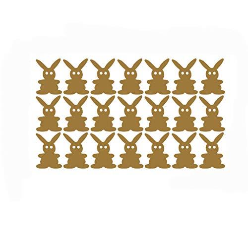 Ostern Dekorationen Hffan Abnehmbar Hase Kaninchen einstellen von 21 Süß Häschen Ostern Urlaub Wand Aufkleber Abziehbild Bastelidee zu Ostern für Kinder zum Zusammensetzen und Dekorieren