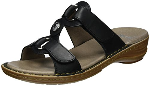 ara HAWAII 1237273, Damen Pantoletten, Grau (Schwarz), 38 EU (5 UK)