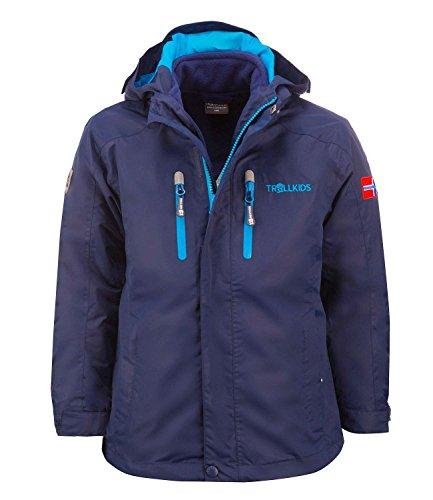 Trollkids Jungen Trainingsjacke Blau 110 cm