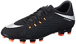 Nike Mens Hypervenom Phelon III FG Soccer Cleats (8 D(M) US, Black, Metallic Silver, Anthracite)