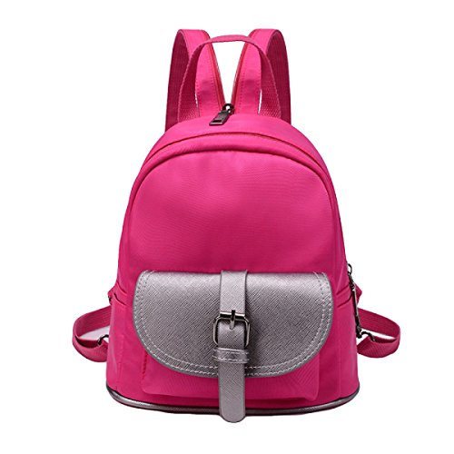 Umhängetasche Weibliche Einfache Lässig Nylon Tuch Weiblichen Rucksack Reise Brust Tasche Red