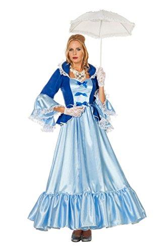 Renaissance Prinzessin Blau Kostüm - Karneval Klamotten Viktorianisches Damen-Kostüm Barock Kostüm Damen Renaissance Kostüm blau Märchenprinzessin Dame Karneval Prinzessin Damen-Kostüm Größe 38
