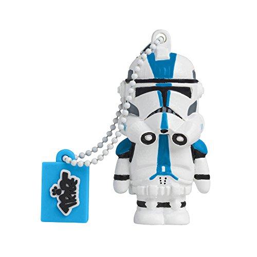 Tribe Disney Star Wars Darth Vader USB Stick Pen Drive USB Memory Stick Flash Drive, Gift Idea 3D Figure, PVC USB Gadget with Keyholder Key Ring