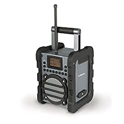 Labgear Pi0050614 6 W Dab Worksite Radio With Lcd Display & Rugged Weatherproof Ip44 Design