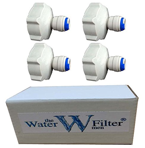 """4 x 3/4 \""""bsp 1/4\"""" pour robinet de jardin flexible de raccord de plomberie pour Aquariums, système de filtre à osmose inverse, filtres d\'alimentation d\'eau"""