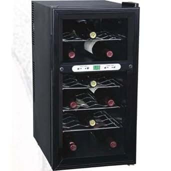 Gino Gelati Digitaler 2 Zonen Weinkühlschrank 18 Flaschen 7 - 18 °C 52 Liter