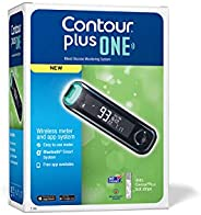 Contour Plus One Blood Glucose Monitoring System Glucometer with 25 Free Strips (Multicolor)