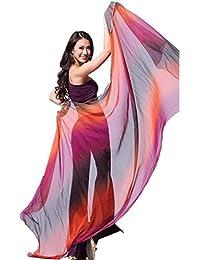 250cmx120cm Lndian Dance Traje de la danza del vientre Silk Veil Shawl Scarf