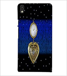 PrintDhaba Antique Watch D-5104 Back Case Cover for HUAWEI ASCEND P6 (Multi-Coloured)