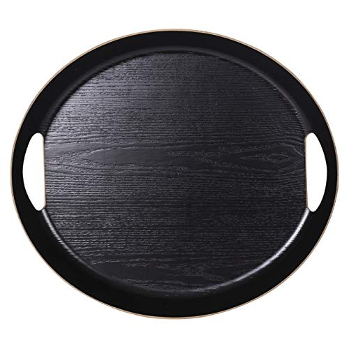 Plateau Ovale 46 x 41 cm noir