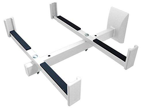 Soporte de micro de eje Soporte micro del árbol Microwellen Microondas Soporte de pared soporte, Blanco Modelo: H72W