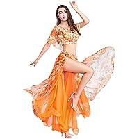 ROYAL SMEELA Gonna a Danza del Ventre Vestito da Ballo Sexy Abiti da Prestazione Chiffon Floreale Costume da Ballo Attrezzatura Set per Le Donne