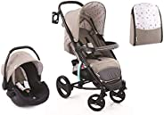 Hauck Malibu Xl Plus Travel System With Bag For Unisex - Brown