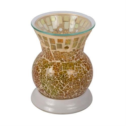 Elektrische Duftkerzen (Elektrischer Duft Glas und Flame Duftkerze schmilzt Golden Sands-Halter)