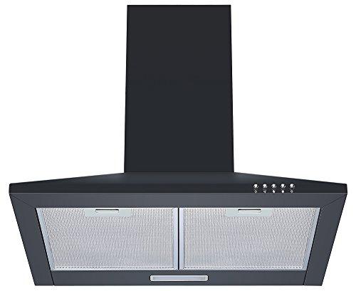 Cookology CH600BK 60cm Chimney Cooker Hood in Black | Unbranded Kitchen Extractor Fan