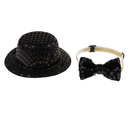 Auf Hut Der Katze Kostüm - Homyl Hund Katze Halsschleife mit Zylinder Hut für Weihnachten Hochzeit Geburtstag Party