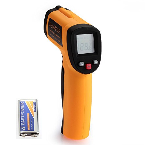 COLEMETER Infrarot Thermometer - 50 bis + 420 °C Pyrometer Temperaturmessgerät / Temperaturmesser