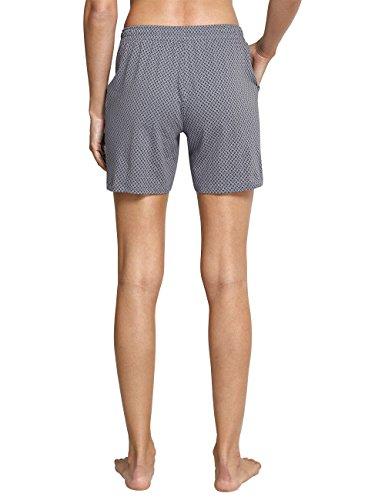 Schiesser Damen Schlafanzughose Mix & Relax Jerseyhose Kurz Grau (Hellgrau 204)