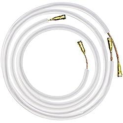 Readyclim raccordement liaison frigorifique pré-chargée en gaz - longueur de 4 Mètres 1/4 - 1/2 compatible avec les climatiseurs réversibles et pompes à chaleur Airton 5100W uniquement