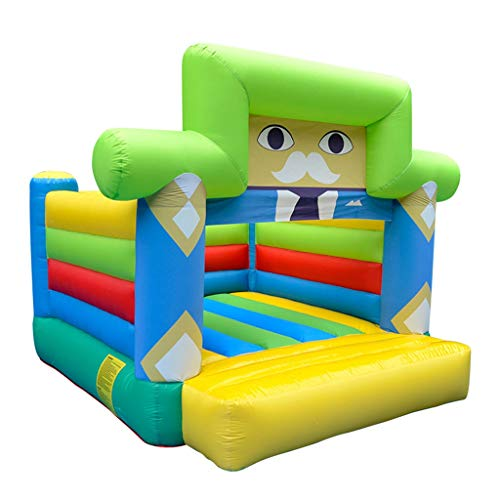Bouncy Castles Sports Toys Inflatable Trampoline Home Children's Inflatable Park Outdoor Children's Slide Kindergarten Playground Bounce Bed Toy Game Fence (Color : Color, Size : 240 * 310 * 260cm)
