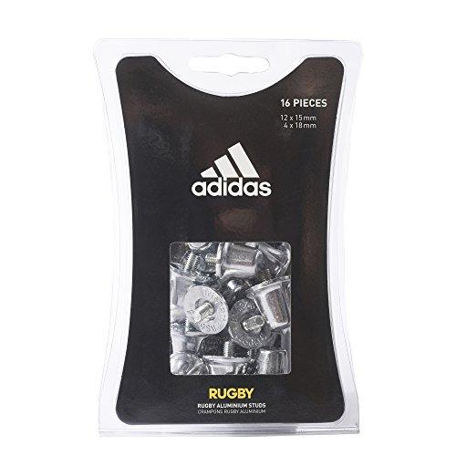 Adidas Tacchetti per Scarpe da Rugby, 12x15mm + 4x18mm, Colore Metallico