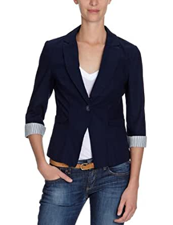 vero moda damen blazer 10085303 dd filiz 3 4 blazer gr 38 m blau dark navy. Black Bedroom Furniture Sets. Home Design Ideas