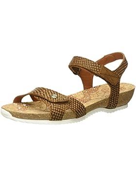 PANAMA JACK Damen Dania Snake Offene Sandalen mit Keilabsatz