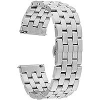 TRUMiRR 22 millimetri in acciaio inox cinturino a sgancio rapido del cinturino Tutti i link (Metallo Meridiana)