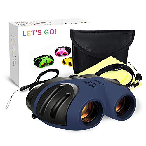 Boys Toys age 3-12, DMbaby Spotting Telescope Binoculars for Children Outdoor Toys for Kid Gifts for 3-12 Year Old Boys Gifts for Girls Navy Blue DL11